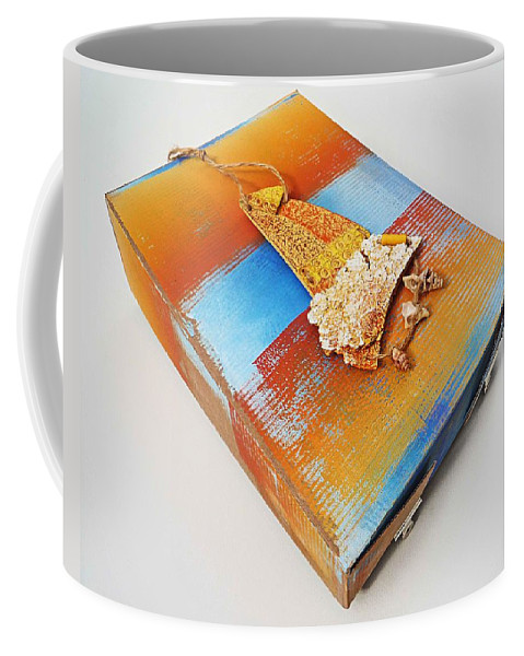 Sculpture Coffee Mug featuring the painting Sea Change Box by Charles Stuart