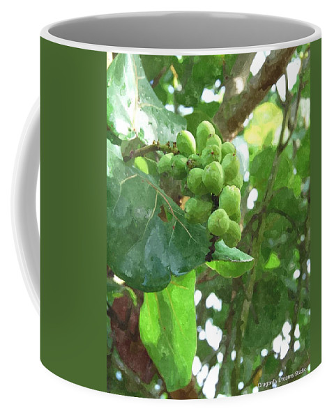 Sea Coffee Mug featuring the digital art Sea Grape Sgwc by Jim Brage