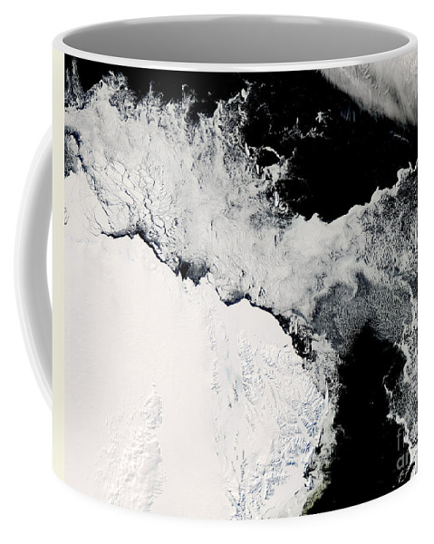 Outdoors Coffee Mug featuring the photograph Sea Ice In The Southern Ocean by Stocktrek Images