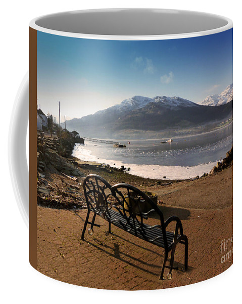 Beinn Bheula Coffee Mug featuring the photograph Seat With A View by Lynn Bolt