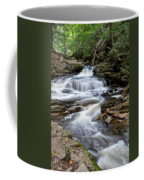 Whitewater Coffee Mug featuring the photograph Seneca Falls by Frozen in Time Fine Art Photography