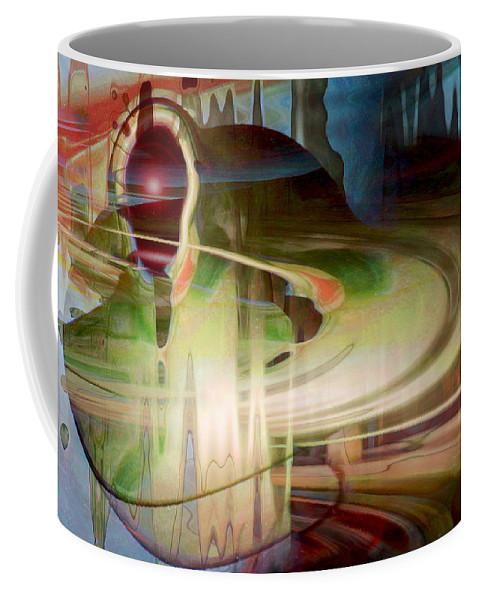 Spheres Coffee Mug featuring the digital art Sensing The Spheres by Linda Sannuti