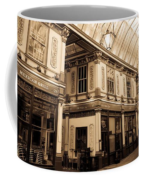 Leadenhall Coffee Mug featuring the photograph Sepia Toned Image Of Leadenhall Market London by David Pyatt