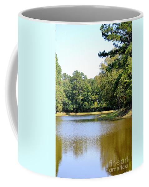 Serene Lake In September Coffee Mug featuring the photograph Serene Lake In September by Maria Urso