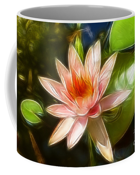 Lily Coffee Mug featuring the photograph Serene Pink Waterlily by Darleen Stry