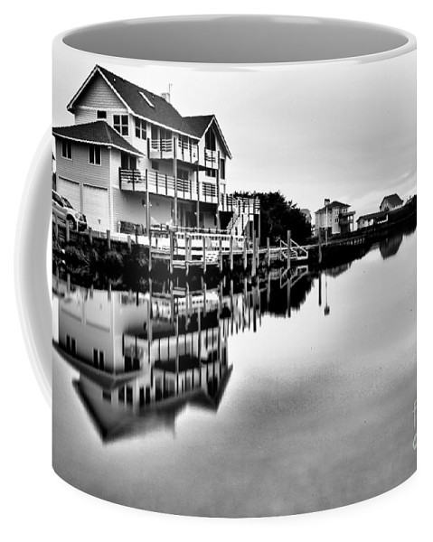 Obx Coffee Mug featuring the photograph Serenity On The Sound by Adam Jewell