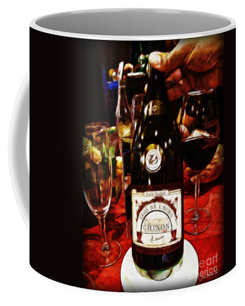 Wine Coffee Mug featuring the photograph Serving Time by Joan Minchak