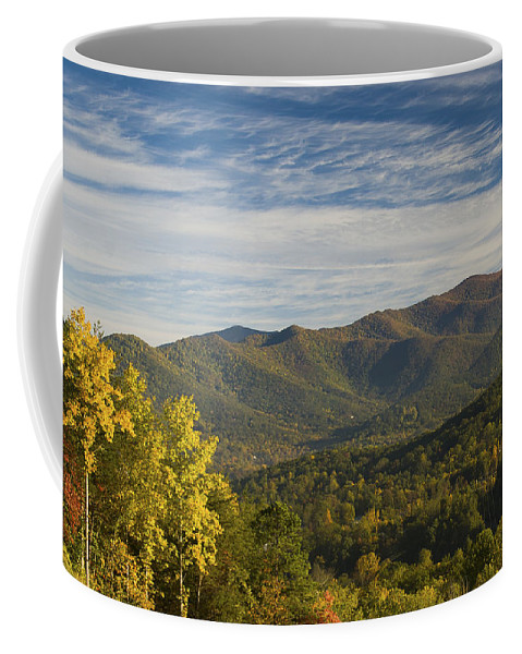 Asheville Coffee Mug featuring the photograph Seven Sisters by Joye Ardyn Durham