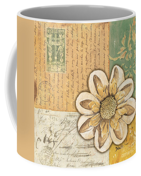 Flower Coffee Mug featuring the painting Shabby Chic Floral 2 by Debbie DeWitt