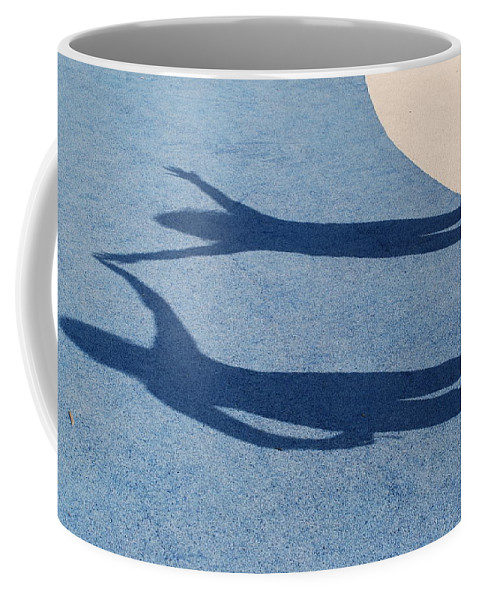 Shadow Coffee Mug featuring the photograph Shadow Friends by Richard Bryce and Family
