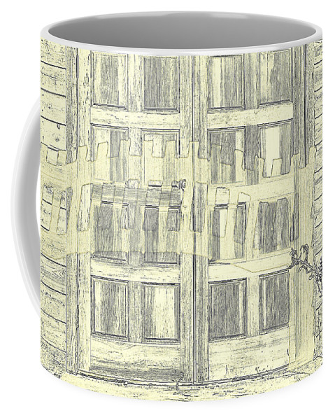 Door Coffee Mug featuring the photograph Shadow Play by Diane montana Jansson