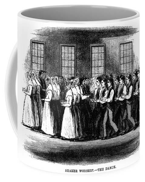 1875 Coffee Mug featuring the photograph Shaker Worship by Granger