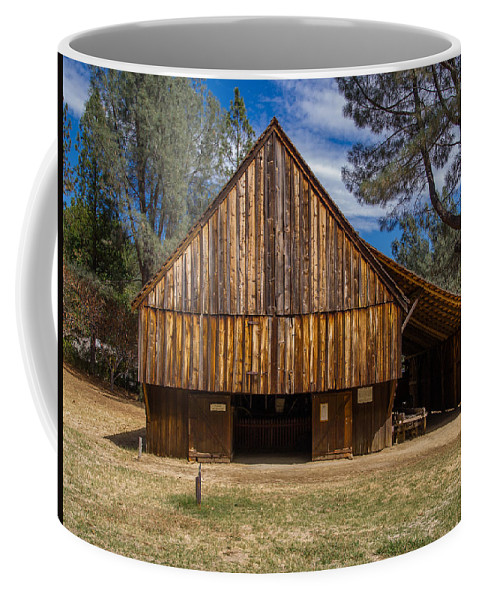 Shasta Historical State Park Coffee Mug featuring the photograph Shasta Barn by Greg Nyquist