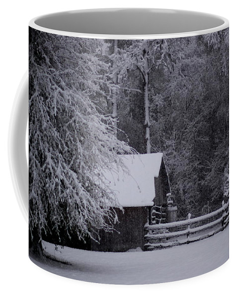 Barn Coffee Mug featuring the photograph Shelter From The Cold by Travis Truelove