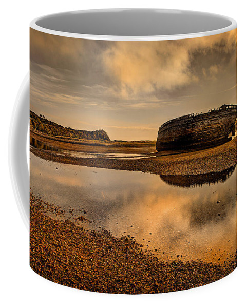 Shipwreck Coffee Mug featuring the photograph Shipwrecked Boat by Mal Bray