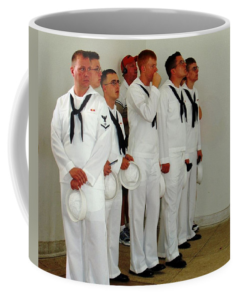 People Coffee Mug featuring the photograph Showing Respect by Deborah Crew-Johnson