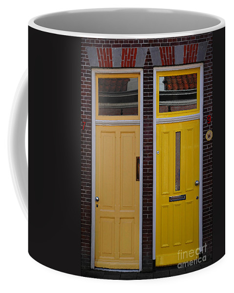 Doors Coffee Mug featuring the photograph Side By Side by Vivian Christopher