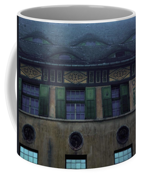 Sighisoara Coffee Mug featuring the photograph Sighisoara Old Town Eyes by Amalia Suruceanu