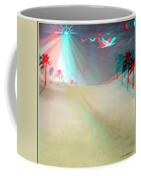 Brian Wallace Coffee Mug featuring the digital art Silent Night - Red And Cyan 3d Glasses Required by Brian Wallace