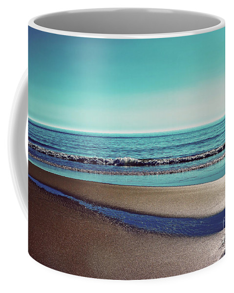 Sylt Coffee Mug featuring the photograph Silent Sylt - Vintage by Hannes Cmarits