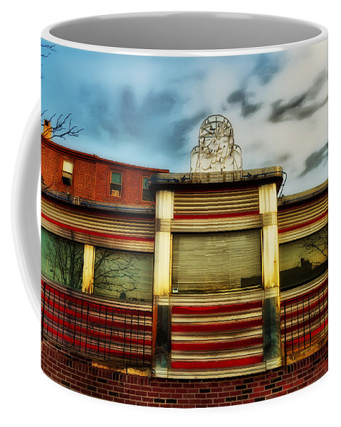Silk City Lounge Coffee Mug featuring the photograph Silk City Lounge by Bill Cannon