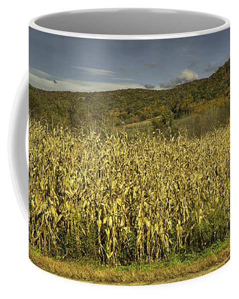 Landscape Coffee Mug featuring the photograph Silo Panorama by Fran Gallogly