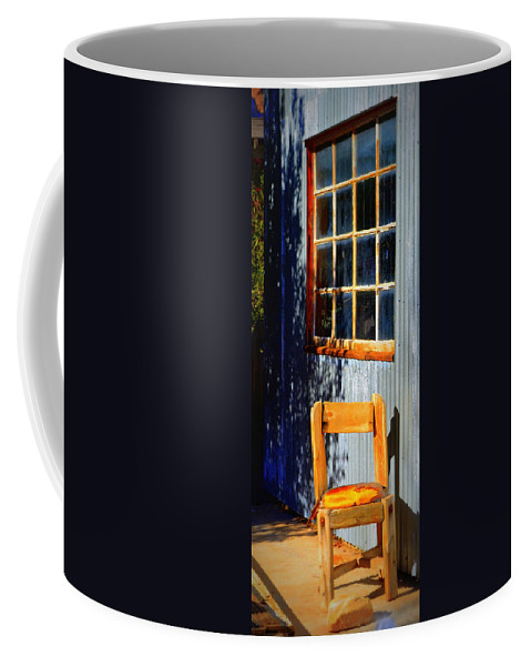 Chair Coffee Mug featuring the photograph Sit A Minute by Diane montana Jansson