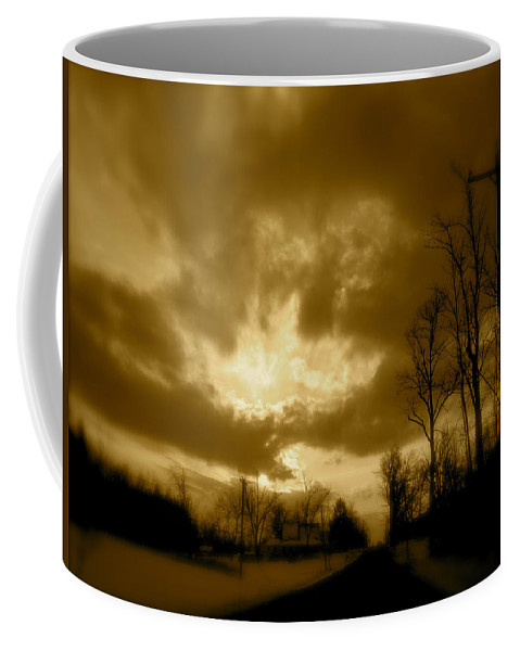 Landscape Coffee Mug featuring the photograph Sky Ablaze by Arthur Barnes