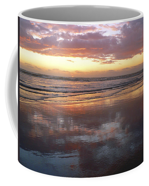 Sunset Coffee Mug featuring the photograph Small Sun Big Presence by Pamela Patch