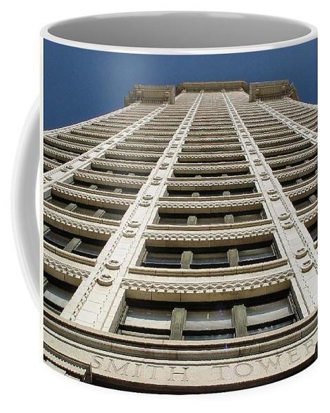 Smith Coffee Mug featuring the photograph Smith Tower by Michael Merry
