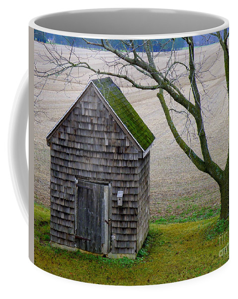 Farm Coffee Mug featuring the photograph Smoke House by Lainie Wrightson