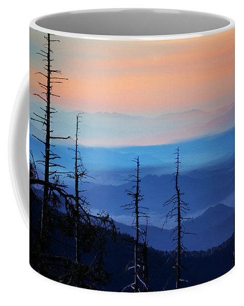 Art Coffee Mug featuring the photograph Smokey Mountain Sunset As Seen From Clingman's Dome by Randall Nyhof