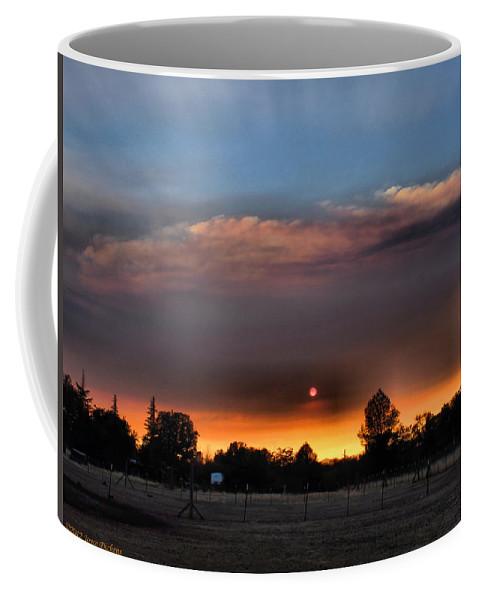 Sunset Coffee Mug featuring the photograph Smoky Sunset Wide Angle 08 27 12 by Joyce Dickens