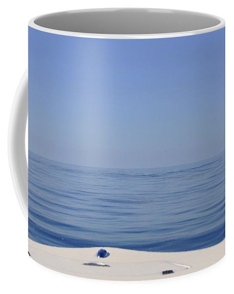 Horizon Off The Bow Coffee Mug featuring the photograph Smooth Seas Ahead by Christine Stonebridge