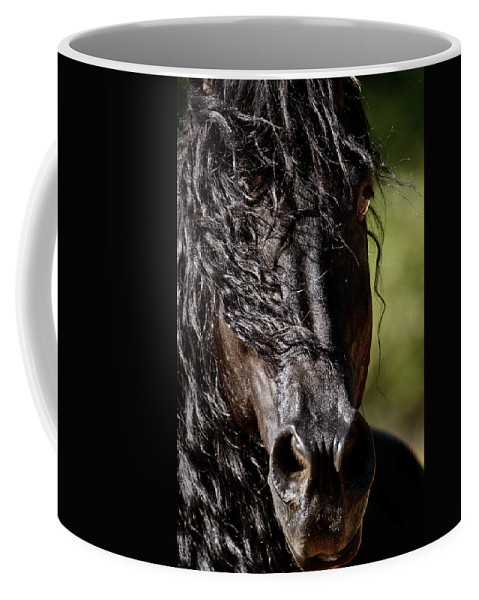 Snorting Good Looks Coffee Mug featuring the photograph Snorting Good Looks by Wes and Dotty Weber