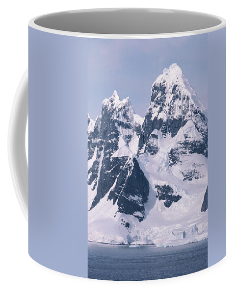 Geography Coffee Mug featuring the photograph Snow-covered Mountains On Wienke by Gordon Wiltsie