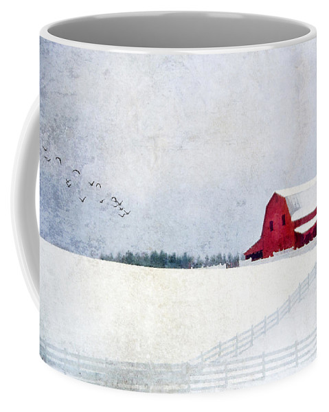 Farm Coffee Mug featuring the photograph Snow Days by Darren Fisher