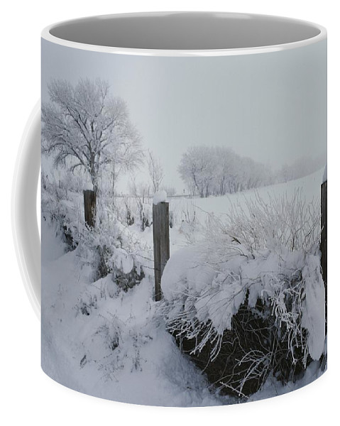 Natural Forces And Phenomena Coffee Mug featuring the photograph Snow, Rime Ice, And Fog Cover by Gordon Wiltsie