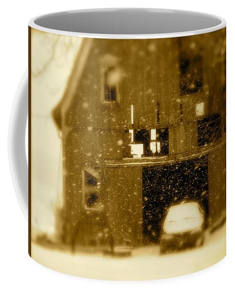 Landscape Coffee Mug featuring the photograph Snowflakes by Arthur Barnes