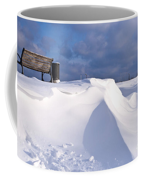 Europe Coffee Mug featuring the photograph Snowy Day by Heiko Koehrer-Wagner