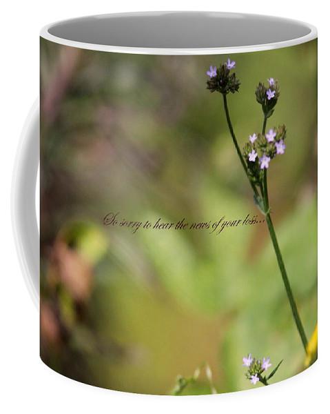 Sympathy Card Coffee Mug featuring the photograph So Sorry - Sympathy by Travis Truelove
