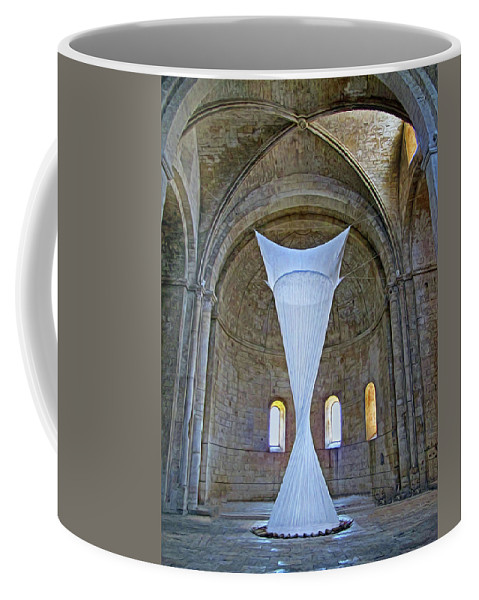 Monastery Coffee Mug featuring the photograph Soft Sculpture In A Monastery by Dave Mills