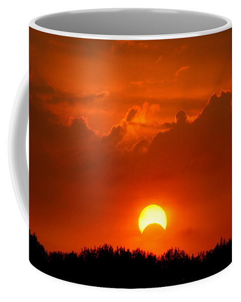 Solar Eclipse Coffee Mug featuring the photograph Solar Eclipse by Bill Pevlor