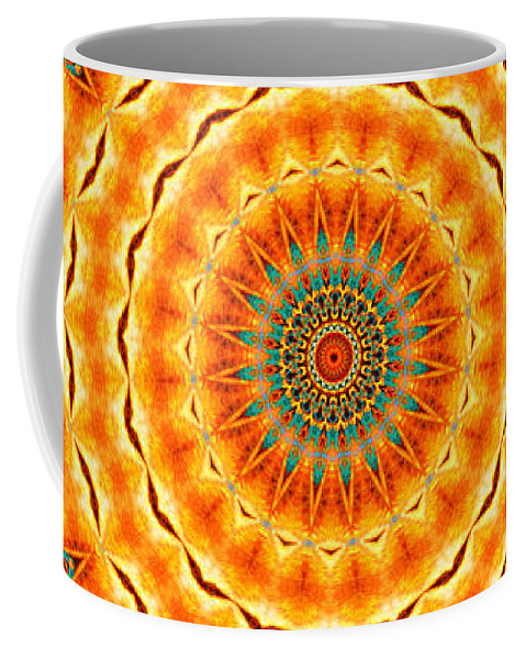 Kaleidoscope Coffee Mug featuring the painting Solar Wind by Adam Vance