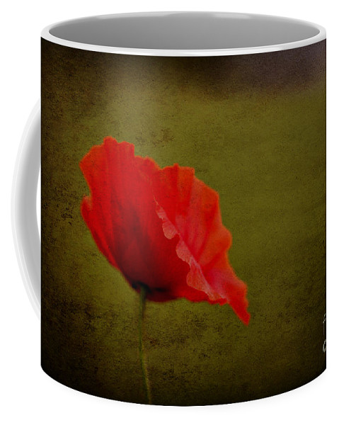 Poppies Coffee Mug featuring the photograph Solitary Poppy. by Clare Bambers