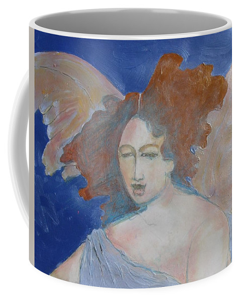 Angel Coffee Mug featuring the painting Some One To Watch Over Me by Diane montana Jansson