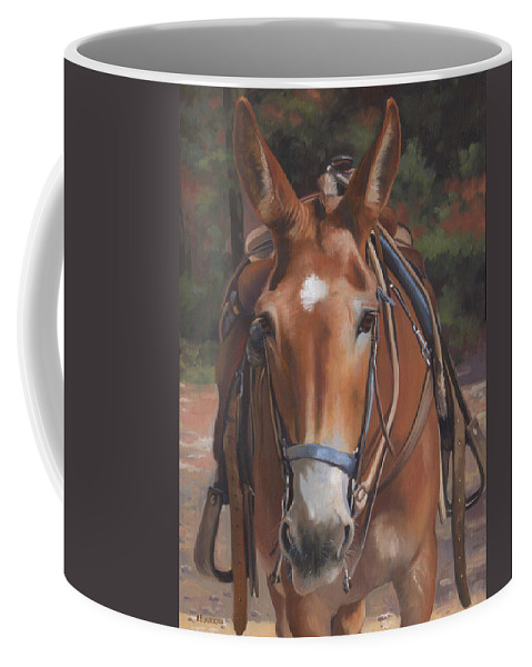 Mule Coffee Mug featuring the painting Sorrel Mule by Alecia Underhill