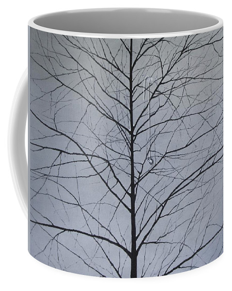 Winter Trees Coffee Mug featuring the painting Sorrow by Roger Calle