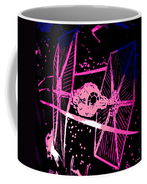 Space Battle Coffee Mug featuring the digital art Space Battle by George Pedro