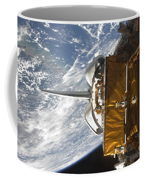 Sts-125 Coffee Mug featuring the photograph Space Shuttle Atlantis Payload Bay by Stocktrek Images